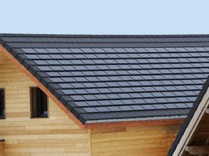 Solar clay tile