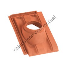 Pipe collar tile PV 10 160 Burnt Red