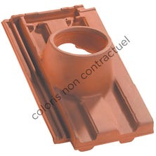 Pipe collar tile 126 PV 13/H14/LOS Burnt Red