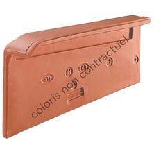 Left hand independent cloaked verge tile (2,7 per m, gauge 368 mm) Burnt Red