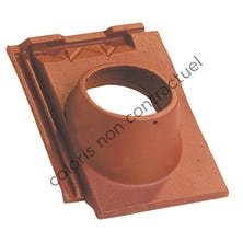 Pipe collar tile ARBOISE RECTANGULAR 126 (conform to Mechanical Ventilation) Old Red