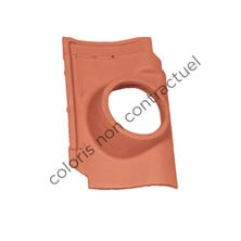 Pipe collar tile PANNE S Burnt Red