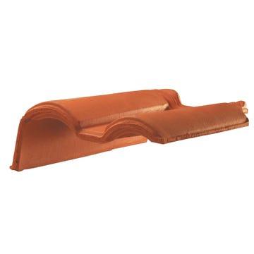 Accessoire terre cuite d'EDILIANS : Tuile de rive à rabat gauche à recouvrement MERIDIONALE Rouge