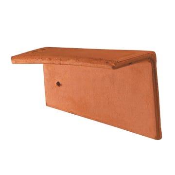 Accessoire terre cuite d'EDILIANS : Rive individuelle droite pour Phalempin 16x24 Ambre