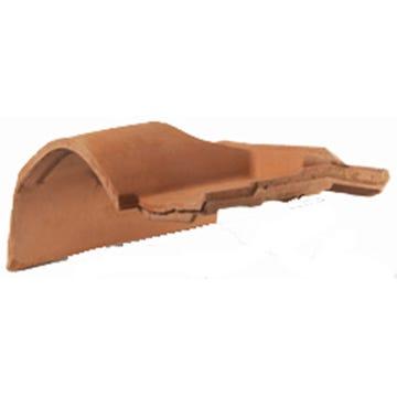 Accessoire terre cuite d'EDILIANS : Tuile de rive à rabat sous-faîtière gauche à emboîtement 2/3 pureau MEDIANE PLUS Rouge