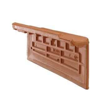 Accessoire terre cuite d'EDILIANS : Rive individuelle verticale à emboîtement droite grand rabat Rouge
