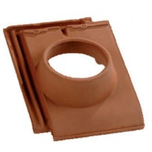 Pipe collar tile 126 DOUBLE HP 20 Burnt Red