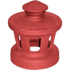 Accessoire terre cuite d'EDILIANS : Lanterne 160 Conforme VMC Poudenx Rouge
