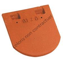 Eaves / Top tile for plain tile 17x27 Bullnose Chevreuse
