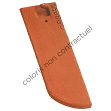 Right hand 1/2 tile 17x27 Bullnose PLAIN TILE Ste Foy Chevreuse