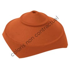 Junction and finial base with 4 large round openings Slate