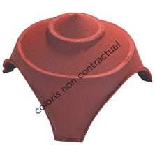Junction and finial base with 1 large and 2 small round openings Slate