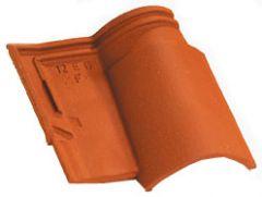 Accessoire terre cuite d'EDILIANS : Tuile 1/2 pureau OMEGA 13 Rouge
