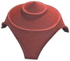 Junction and finial base with 1 large and 2 small round openings Natural Red