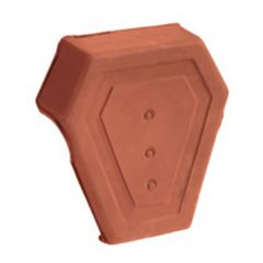 Ridge end cap, socketed Natural Red
