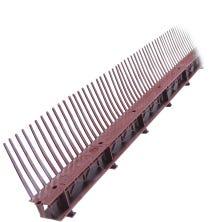 Comb ventilating batten 60mm - Red (1m)