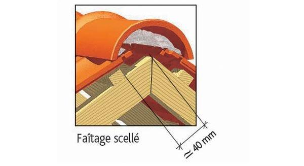 Clay tile H 10 of EDILIANS : Laced ridge